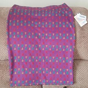 NWT'S Lularoe Jaquard Cassie Pencil Skirt Large